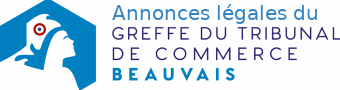 Annonces légales du Tribunal de Commerce de Beauvais