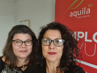 Carole et Maryline Saint-Just, codirectrices d'Aquila RH Compiègne.© Aquila RH/C. Saint-Just